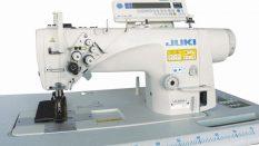 JUKI LH-3578A-7 Direct Drive İğne Transportlu Elektronik Büyük Mekik Çift İğne Düz Dikiş Makinası